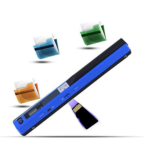 Tonysa Escáner de Mano portátil, escáner de Documentos móvil, escáner de Color A4 portátil, escáner A4 inalámbrico, escáner de Tarjetas de Visita, USB2.0, Compatible con Formato JPG y PDF