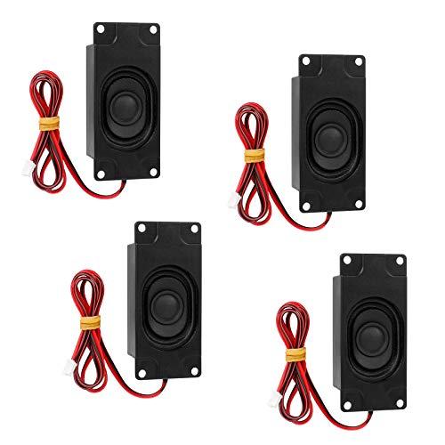 4Pcs Altavoces Multimedia Estéreo, 3 Vatios 8 Ohmios Mini Altavoz con Interfaz...