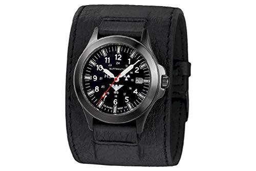 KHS Tactical Watches Black Platoon Titan Automatic KHS.BPTA.LK Titan IPB Leder-Kraftband
