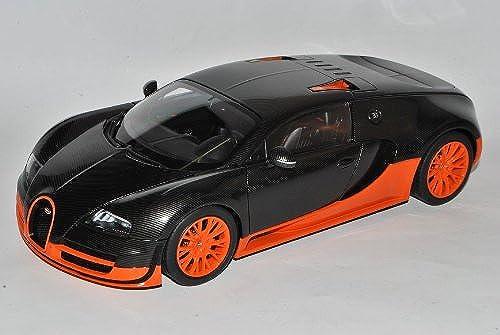 AUTOart Bugatti Veyron EB 16.4 Super Sport Karbon SchwarzOrange Coupe 2010 70936 1 18 Modell Auto