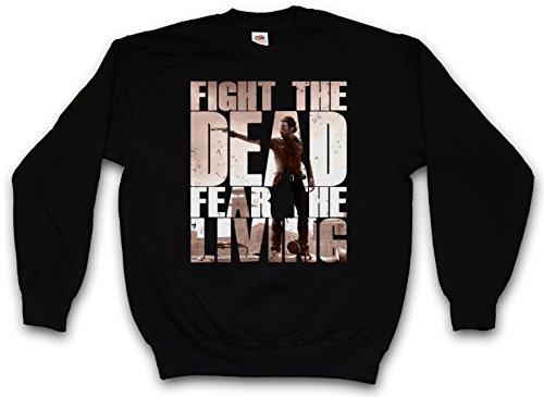 Urban Backwoods Fight The Dead Fear The Living II Sweatshirt Pullover Schwarz Größe L