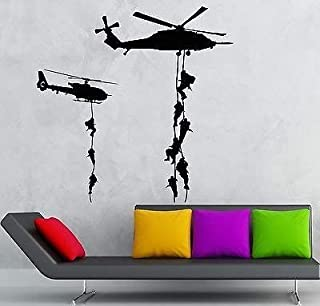 V-studios Helicopter Vinyl Decal Marines Military War Soldier Wall Stickers VS2323