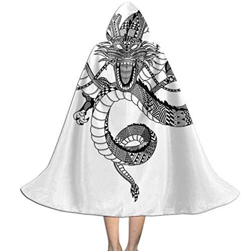 OJIPASD Capa con capucha para niños, diseño de dragón azteca Shenron Dragon Ball Z, unisex, para Halloween, Navidad, decoración de fiestas, disfraces de cosplay
