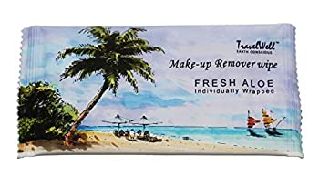 TRAVELWELL Cleanings & Make-Up Remover Wipes Individually Wrapped 500 Count per Package Nartural Fresh Aloe Acohol Free Travel Packs Elderly Bathing Hotel Toiletries Amenities Landscape Series