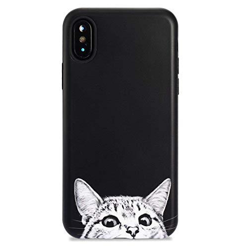 GOLINK iPhone X Case/iPhone Xs Case, Cute Animal Series Slim-Fit Ultra-Thin Anti-Scratch Shock Proof Dust Proof Anti-Finger Print TPU Gel Case for iPhone X/iPhone Xs - Cat