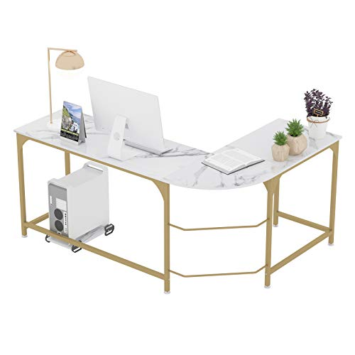 escritorio grande blanco de la marca Teraves