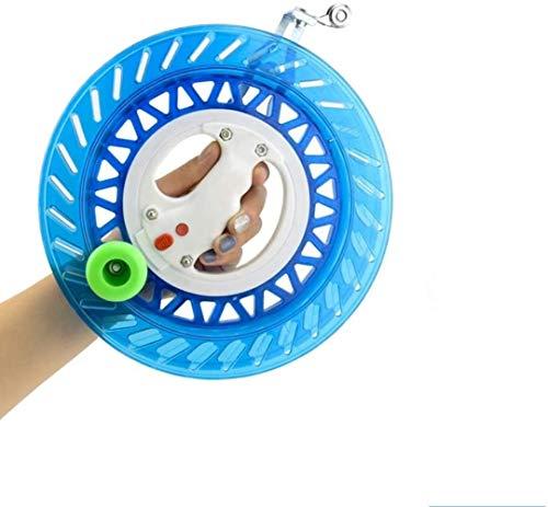 ZJ Exquisite Kite Accessories Schnur + Griff Anti-Reverse Lock Lager Drachen Zubehör Schnur Spule Drachen Zubehör Mode (Farbe: Blau, Größe: 26 cm)
