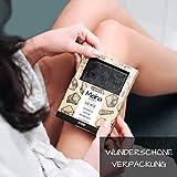 Meina Naturkosmetik – Schwarze Seife mit Aktivkohle ohne Palmöl, Naturseife gegen fettige und unreine Haut, Vegan, Handgemacht (1 x 100 g) - 4