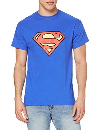 DC Superman - Logo T-shirt Col ras du cou Manches courtes Homme - Bleu - Bleu - FR: X-Large (Taille fabricant: X-Large)