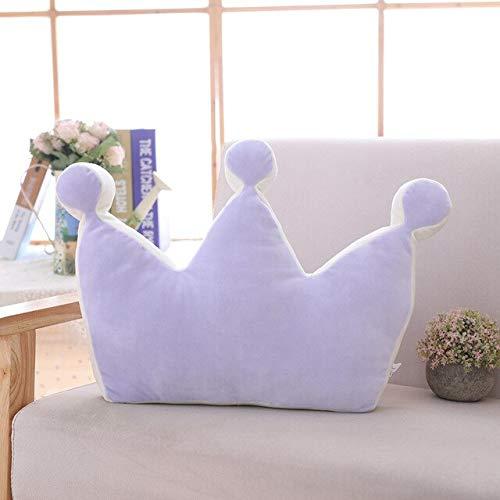 N / A Baby Crown Kissen 100% Baumwolle Kissen Kinder Troddler Kreative Dekoration Plus Baby Bettwäsche Kissen Baby Schlafsofa Kissen Geschenk 30-45CM