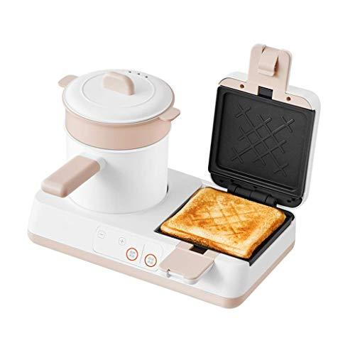 Sandwich Panini Toastie Maker Vaporizador Cocinar Huevo Vaporera Sartén Cacerola pequeña Platos extraíbles Máquina para Hacer Helados