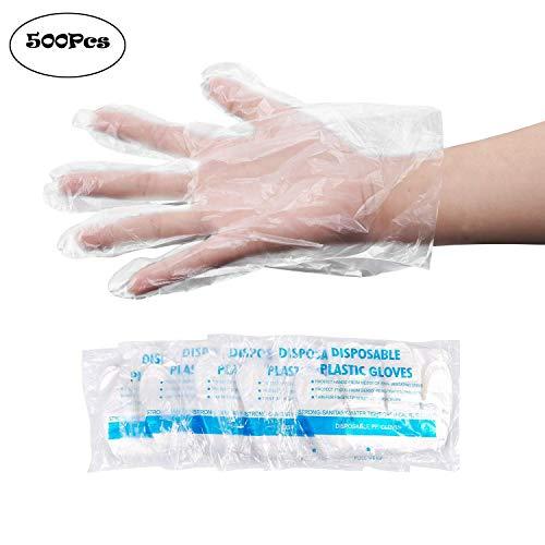 Einweg-Handschuhe, Kunststoff, lebensmittelecht, Einheitsgröße, transparent, 500 Stück