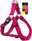 DDOXX Harnais Chien Step-in Nylon, Réglable | Nombreuses Couleurs & Tailles | pour Petit, Moyen Gros & Grand | Harnais de Poitrine Chat Chiot | Rose Pink, XXS