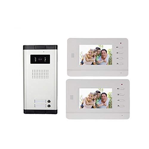 MISDD Telefonillo Portero Apartamento multifamiliar Directamente por vídeo de intercomunicación Puerta construcción de intercomunicación (Color : Doorbell)