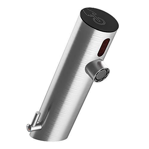 Techo Infrarot Sensor Wasserhahn mit einstellbarem Temperaturbegrenzer Automatisch Badarmatur Waschtischarmatur mit Steckertrafo oder Batteriebetrieb