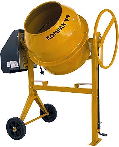 Kompak KP-HK136 - Hormigonera (125 L), color amarillo