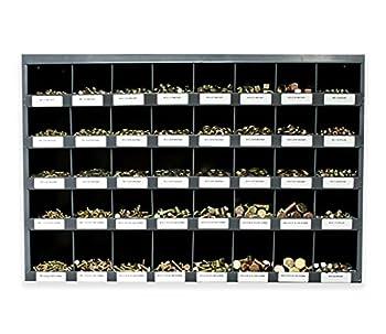 3760 Piece Bolt Bin Kit Grade 8 Nut Bolt Washer Assortment Hex Head Cap Screws Flat and Lock Washers 40 Hole Bin