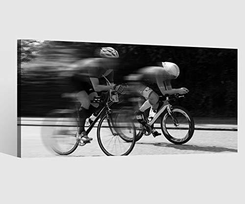 Leinwandbilder schwarz Rennrad fahren Straße Kat8 Fahrrad tour Leinwand Bild Leinwandbild Wandbild Holz 9BD750, Leinwand Größe 1:80x40cm