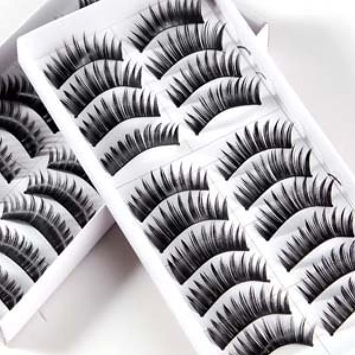 分析する破壊的クスクス20 Pairs Black Thick Natural Long Makeup False Fake Eyelash Eye Lashes by Boolavard? TM