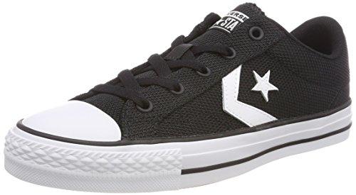 Converse Star Player OX White/Black, Zapatillas Unisex Adulto, Negro, Blanco y Negro 001, 39.5 EU