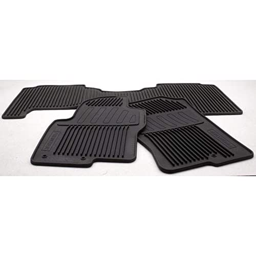 2009 - 2012 Nissan Frontier Crew Cab OEM All Season Rubber Floor Mats - 999E1-