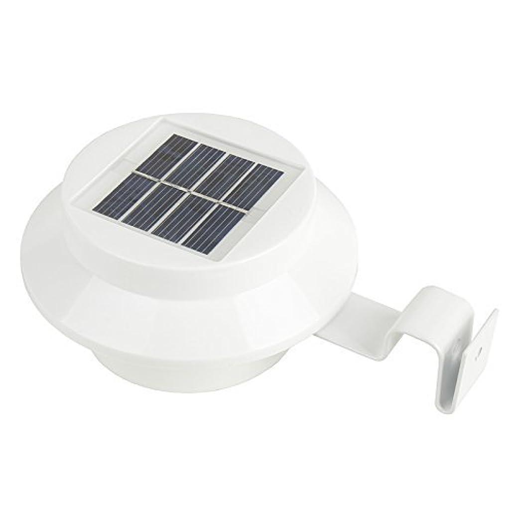 iSunMoon Outdoor Solar Powered LED Gutter Light Fence Roof Gutter Garden Yard Wall Lamp qoe7556820