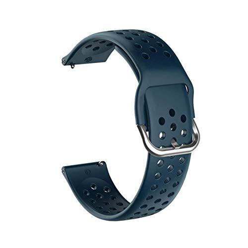 ZAALFC Correa de silicona suave de 20 mm para Huawei Honor Watch ES Correa de repuesto para Garmin Venu pulsera (Color de la correa: cian rock, ancho de la correa: 20 mm)