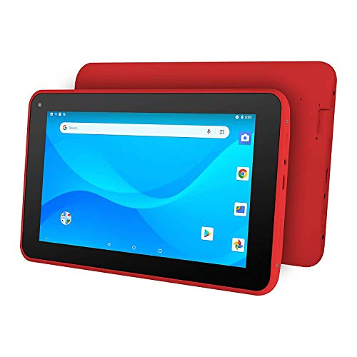 """Ematic 7"""" Quad-Core Tablet with Android 8.1 Go Edition, Red"""