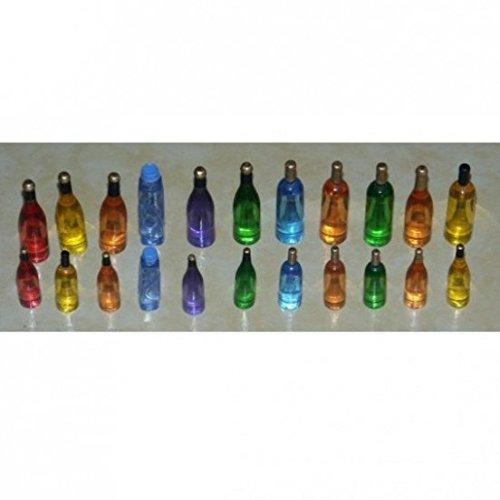 Miniatures World - Lote de 22 Botellas de poliresina para Decoraciones en Miniatura y Casas de muñecas en Escala 1:12