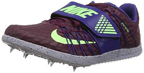 Nike Triple Jump Elite, Scarpe da Atletica Leggera Unisex-Adulto, Multicolore (Bordeaux/Lime Blast/Regency Purple 600), 39 EU