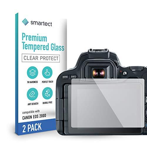 smartect Pellicola Protettiva per Canon EOS 200D [2 Pezzi] - 9H Vetro Temperato – Design Ultra Sottile – Applicazione Anti-Bolle – Anti-Impronte