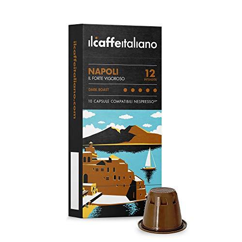 Nespresso, 100 Kaffeekapseln mit dem Nespresso kombpatible - Il Caffè Italiano - Mischung Napoli, Intensität 12