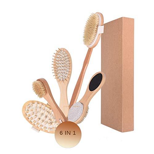 Body Set Brosse exfoliante longue poignée propre salle de bain Accessoires brosse en bambou naturel Soins de la peau Set de bain Matériel fiable