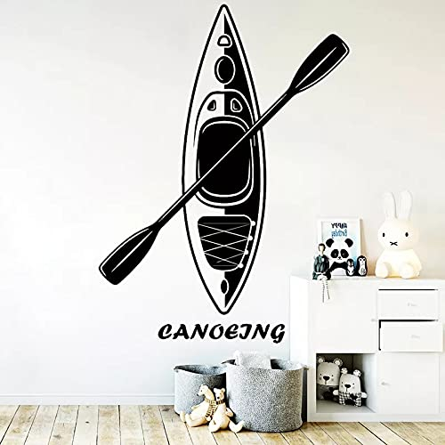 Deportes acuáticos etiqueta de la pared calcomanías canoa barco decoración de la habitación familiar mural extraíble etiqueta de la pared papel tapiz A4 42x56 cm