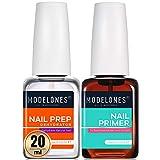 Modelones Nail Prep Dehydrator & Bond Primer, Nail Protein Bond, 20ml Professional Natural Superior Bonding Primer for Acrylic Powder and Gel Nail Polish 0.7oz