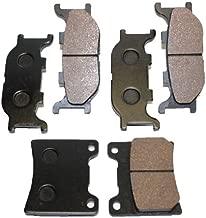 Caltric FRONT REAR BRAKE Pads Fits YAMAHA V-STAR 1100 CLASSIC XVS1100 XVS 1100 2000-2009 FRONT REAR BRAKE Pads
