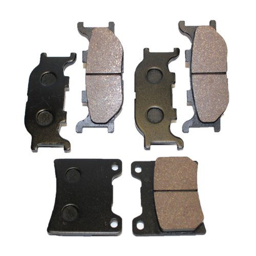 Caltric Front Rear Brake Pads Compatible With Yamaha V-Star 1100 Classic Xvs1100 Xvs 1100 2000-2009 Front Rear Brake Pads