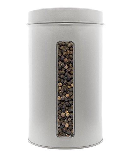 Pfeffer schwarz ganz aus Indien, Keimreduziert, Premiumqualität für Gewürzmühle, Pfeffermühle. XL Gastro - Dose 700g.