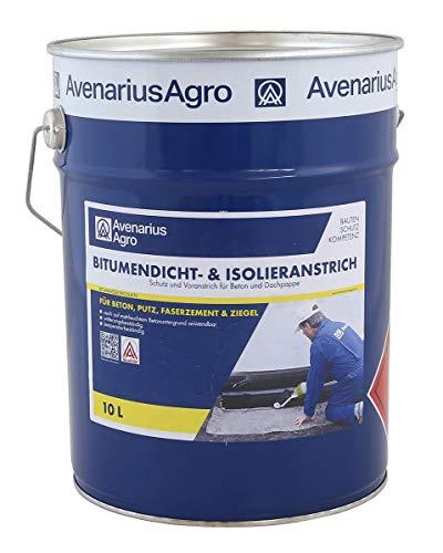 Avenarius Agro Bitumen-Dicht Isolieranstrich Bitumenanstrich für Keller Dach uvm (10 Liter)