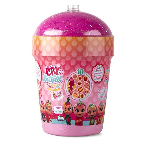 Bebés Llorones Lágrimas Mágicas Casita Tutti Frutti, mini muñecas coleccionables con olor a frutas, Surtido - IMC Toys