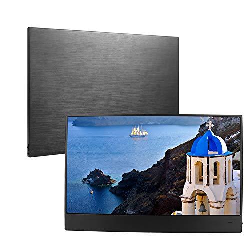Garsent Draagbare Schermmonitor, 15,6 inch 1920 x 1080 IPS HD Draagbare Monitor Ultradunne HDMI-monitor voor PS3, PS4, Schakelaar, Laptop, Smartphone Xbox360, zonder geval