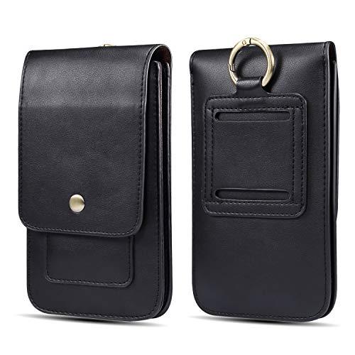 Funda del teléfono celular Cinturón de cuero superior de la bolsa del teléfono de la pistolera con clip for iPhone Xs Max, Max Pro 11, XS, X, for Samsung Galaxy S20 Ultra 5G, S20, S20 Ultra, Ultra Not