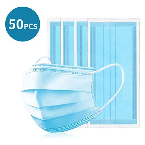 Einweg-Atemfilter 3-lagig Mund Schutz Anti-Staub 50er Pack (50 Stück)