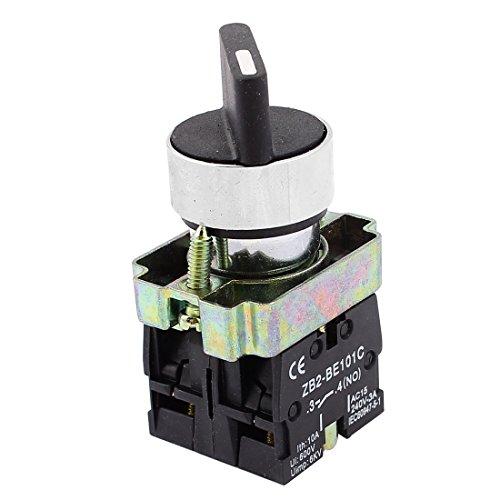 sourcing map 22mm para óxido 2 NO Tres 3-posición Interruptor Selector Giratorio Select ZB2-BE101C
