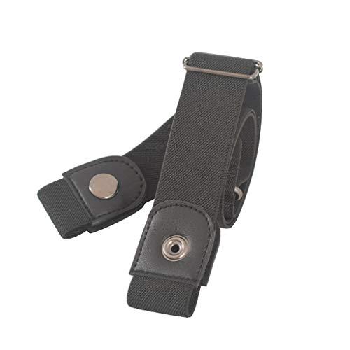 Goddesslili Mens Belt Womens Belt, Buckle-Free Elastic Women Men Invisible Belt for Jeans No Bulge Hassle, Back to School Essentials Muti Colors Style Ⅱ (BK)