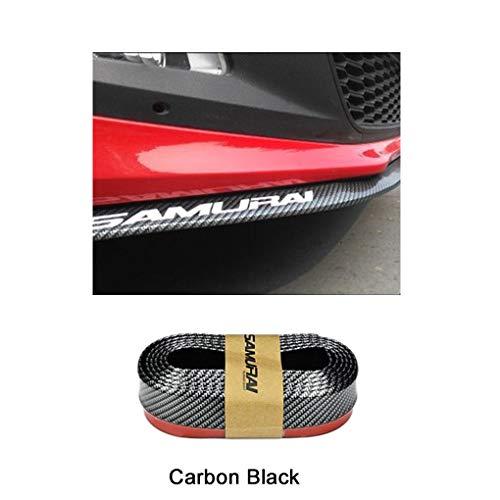 Demino Frontstoßstange Cover Universal Car Front jedes Frontladekanten Frontlippe Abdeckung Frontstoßfän Auto Lip-Schutz-Schutz Flexible Autoschutzgummibügel 2.5m schwarz & 1