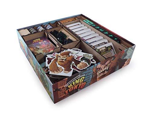 The Game Doctors Brettspiel Organizer kompatibel King of Tokyo oder King of New York + Erweiterungen Power Up! und Halloween