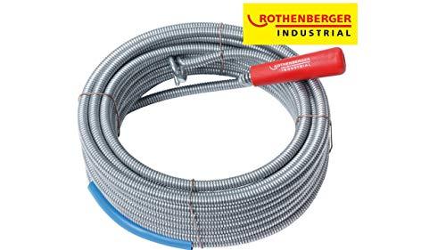 Rothenberger Industrial 072986E Déboucheur Spirale avec tête d'accrochage Long, Gris