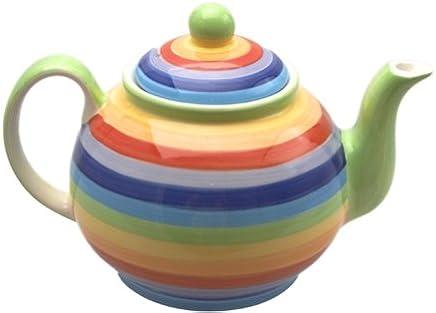 Preisvergleich für Windhorse Keramik Regenbogen gestreift Teekanne 1000 ml