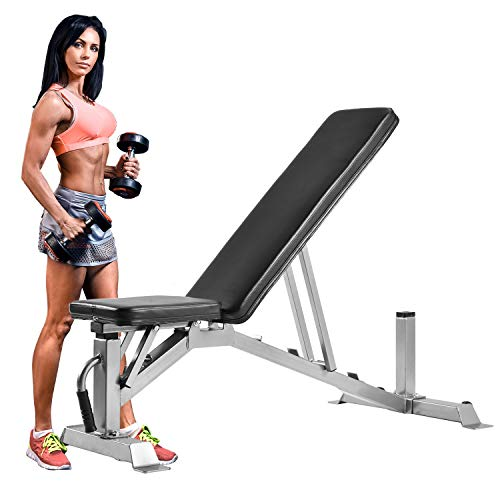 Merax Adjustable Incline Bench Utility Weight Bench for Weightlifting and Strength Training 1000LBS Weight Capacity